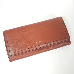 Fossil Brown Leather BiFold Wallet New Without Tag